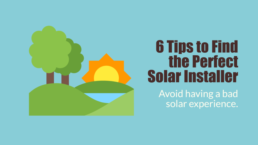 6 tips to perfect solar installer