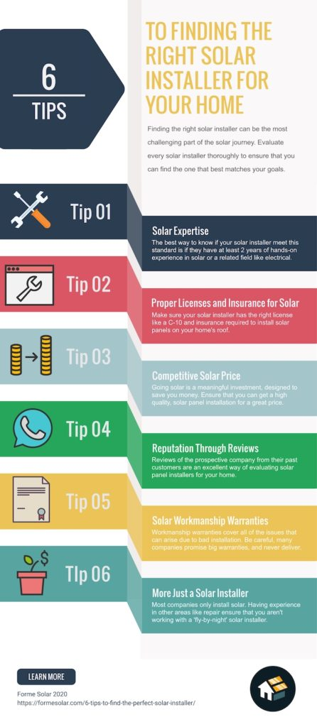6 tips to finding solar installer