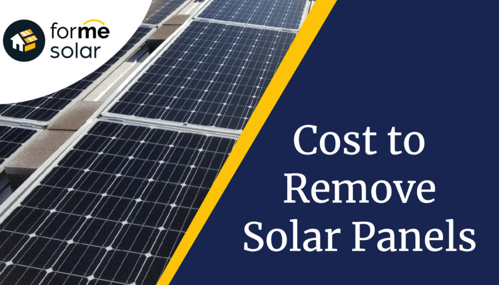 cost to remove solar panels and reinstallation guide
