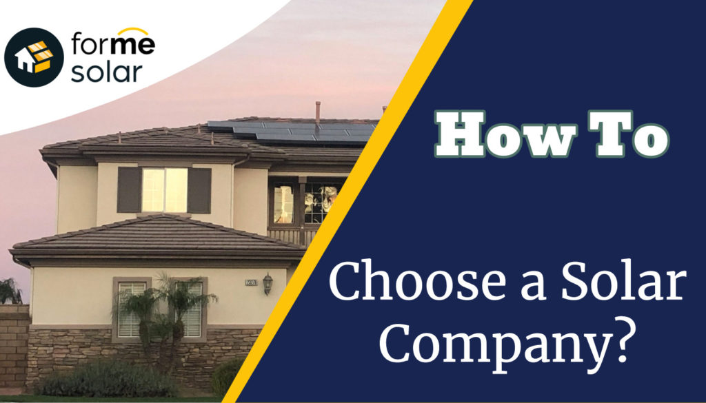 how to choose a solar company