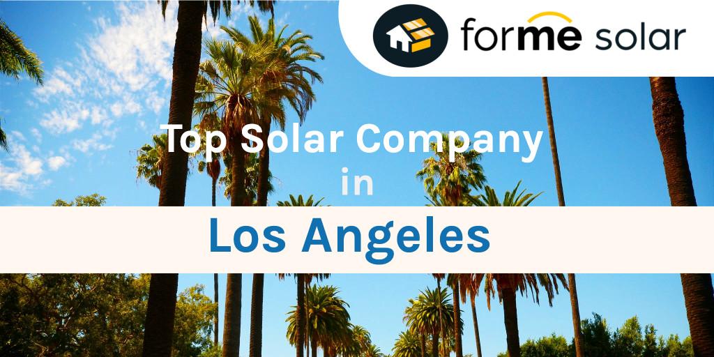 top solar company in los angeles
