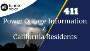 Power Outage Info for California Residents