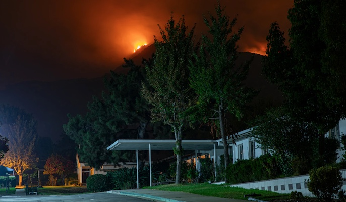 fire mountains can lead to power outages