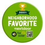 forme solar 2021 nextdoor award winner