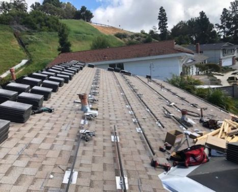 solar mounting and roof