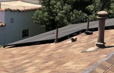 los angeles solar installation rooftop black