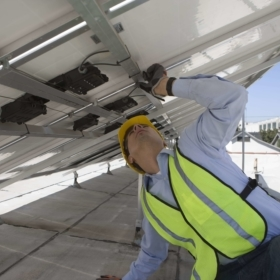 solar panel inspection mounting