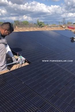 solar panel installation roof black