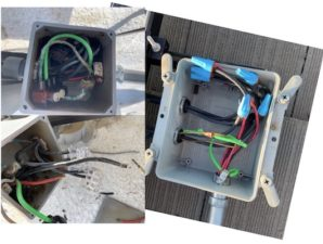 solar repair before and after junction box
