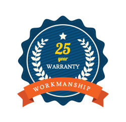 workmanship warranty 25 year