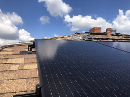 solar panel all black q cell package