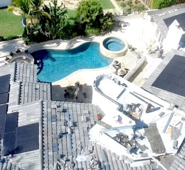 all black solar roof los angeles home