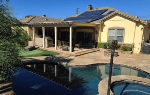 roof solar installed house