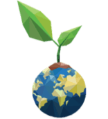 Globe with plant growing Green globle