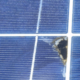 solar hot spots blue solar panels