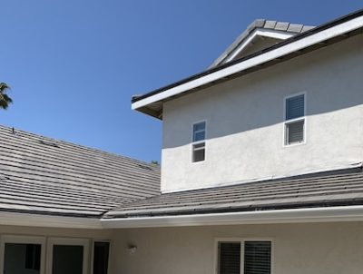 finished roof new shingles