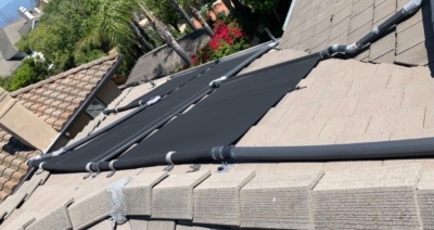 solar pool thermal pipe heating water heater