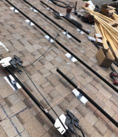 solar energy rails and roofing